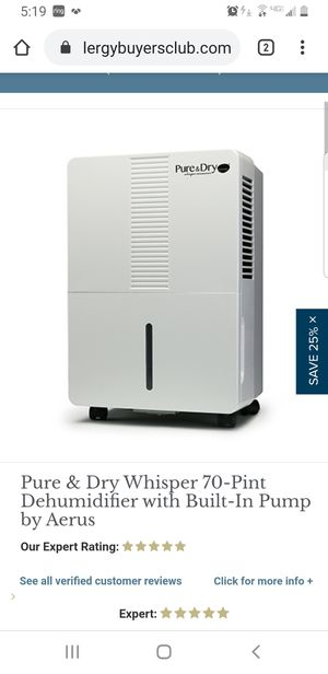 Pure and dry aerus dehumidifier for Sale in Tampa, FL