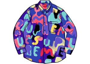 Supreme Painted Logo Shirt (Royal, Size Large) for Sale in Nottingham, MD
