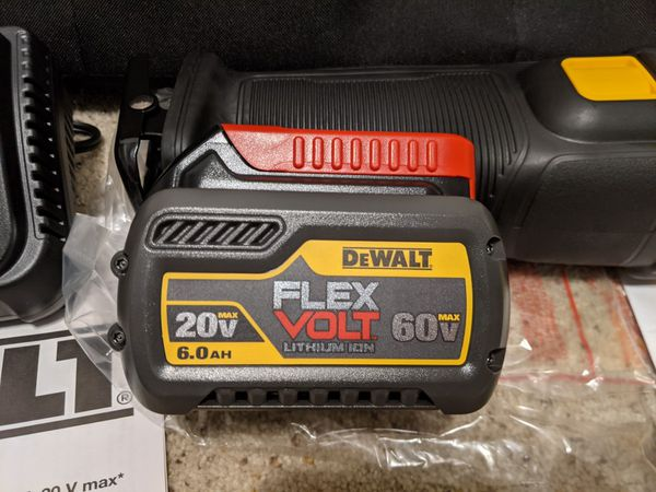 Brand New Dewalt 60V Reciprocating Saw DSC388 with Battery, Charger, and Bag