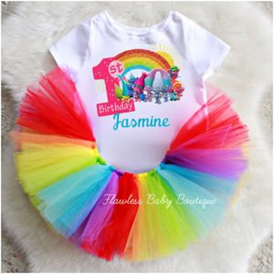 Rainbow Trolls Birthday Tutu Outfit Set for Sale in Miami, FL