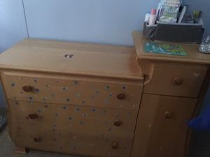Wood changing table for Sale in Lake Worth, FL