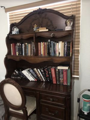 Cherry wood desk and chair for Sale in Tampa, FL