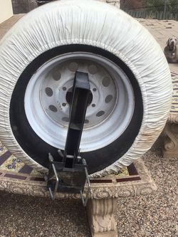 Trailer Spare Tire, Bumper Bracket And Cover for Sale in Lakeside,  CA