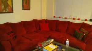 RED SECTIONAL COUCH for Sale in Washington, DC