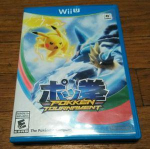 Pokken Tournament Nintendo Wii U for Sale in Pasadena, CA
