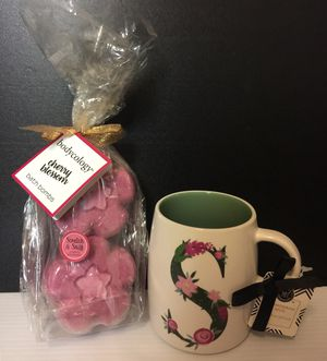 NEW Gift Set! Monogram mug & bath bombs! for Sale in Green Bay, WI