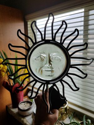 Solid metal celestial glass sun face candle holder for Sale in Santa Maria, CA