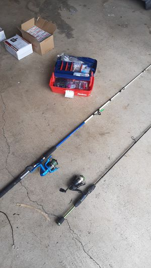 Two fishing poles with tackle for Sale in Columbus, OH
