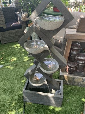 Beautiful cascading fountain with lights for Sale in Bell, CA