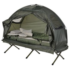 🔥 Brand New Single Portable Camping Tent Bed Cot w/Sleeping Bag Air Mattress Outdoor Use for Sale in Burbank, CA