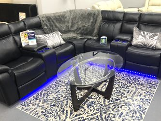 BRAND NEW POWER SECTIONAL SOFA WITH LED LIGHT AND USB PORT RECLINERS for Sale in Fort Worth,  TX