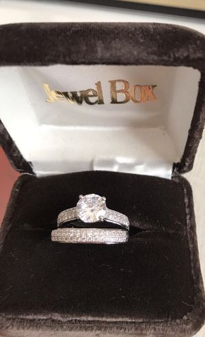 925 Sterling Silver Sapphire Engagement/Wedding Ring Size 8 for Sale in San Francisco, CA