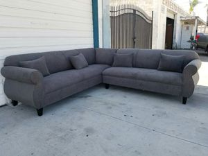 NEW 9X9FT ANNAPOLIS STEEL BLUE FABRIC SECTIONAL COUCHES for Sale in Victorville, CA