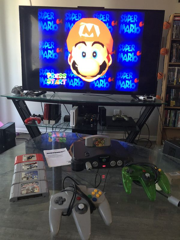 Nintendo 64 N64 Controllers and Super Mario 64