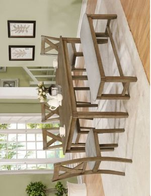 Clara Wheat Rectangular Dining Set 6-PIECE (TABLE+4 CHAIRS+BENCH) for Sale in Houston, TX