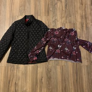 XL Zip Up and Hoodie (Quilted Black/Maroon Floral) for Sale in Mansfield, TX