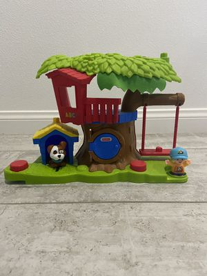 Fisher-Price Little People SWING & SHARE TREEHOUSE Gift Set Sounds & 2 Figures for Sale in Covina, CA