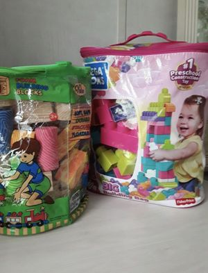 First Preschool Constraction Toy 80 - piece set /New and Foam Building Blocks.Please check my other offers.Juguetes educativos para niños . for Sale in Kissimmee, FL