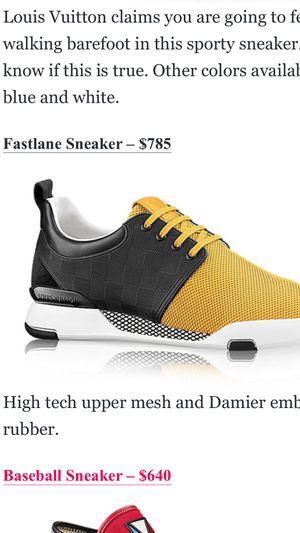 Louis Vuitton Fast Lane Sneaker size 12 for Sale in Dallas, TX