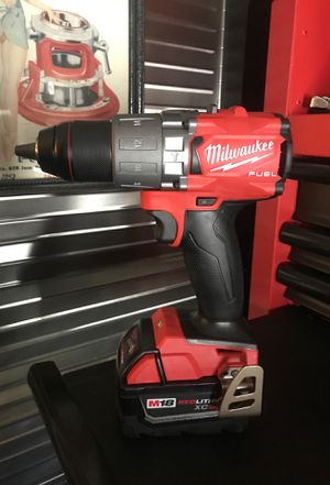 MILWAUKEE M18 FUEL 1/2 inch HAMMER DRILL W 5.0 BATTERY BRAND NEW for Sale in Virginia Beach, VA