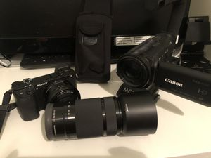 Sony a6300 & canon vixia hfg20 for Sale in Cicero, IL