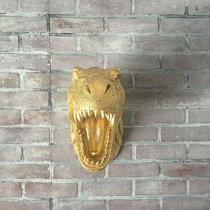 GOLD T-Rex Dinosaur Head Wall Mount // Tyrannosaurus // Boys Room // Unique Birthday Gifts // Man Cave // Jurassic Park for Sale for sale  Long Beach, CA