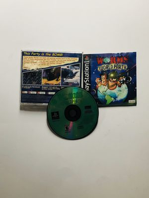 Worms world party PlayStation 1 Ps1 for Sale in Long Beach, CA