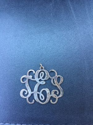 Silver monogram pendant (TES) for Sale in Trenton, NJ