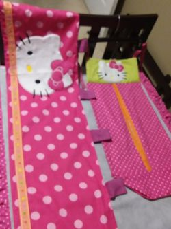 """ORIGINAL HELLO KITTY BABY DIAPER HOLDER 26.5"""" LONG X 15"""" WIDE AND WINDOW CURTAIN BALANCE 53"""" LONG X 15"""" W for Sale in Calexico,  CA"""