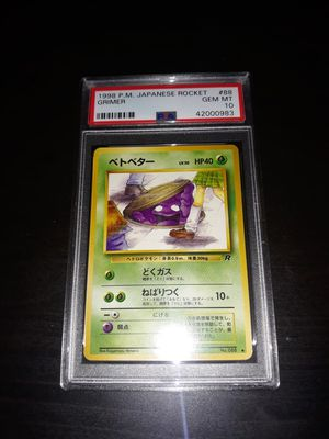 Pokemon Naughty Rocket Grimer BANNED Japanese PSA10 GEM Mint for Sale in Queens, NY