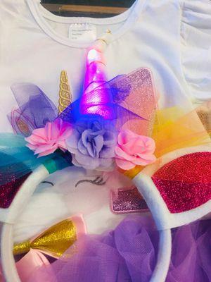 Unicorn Dress tutu and headband for Sale in Victorville, CA