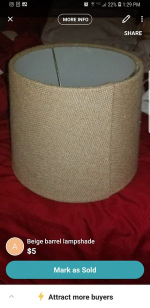 $5 burlap lamp shade for Sale in Richmond, VA