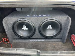 Brand new 12in JL audio w3s with JL audio 500W amp for Sale in Cypress, TX