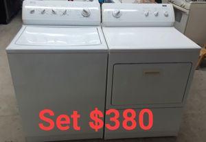 Set de lavadora y secadora en perfecta con diciones para más información estamos ubicado 3022 w 63 st for Sale in Chicago, IL