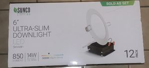Sunco 6 inch ultra-slim downlight led recessed lighting for Sale in Milpitas, CA