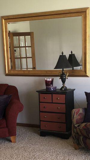 Huge gold decorative mirror. for Sale in Naperville, IL