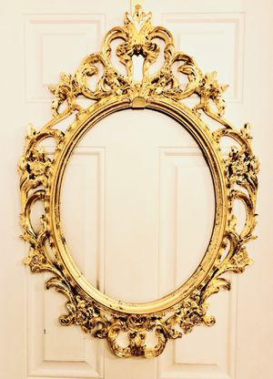 Lightly distressed gold antique victorian baroque mirror for Sale in Boston, MA