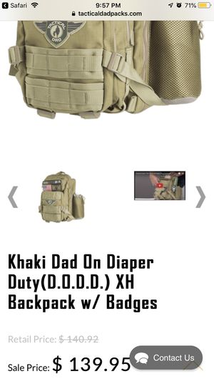 Tactical diaper bag for Sale in Smyrna, TN