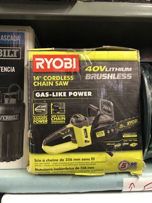 "Ryobi 14"" chainsaw for Sale in Mount Laurel Township, NJ"