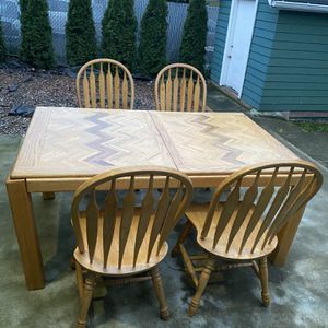 Solid Dining Table and 4 Chairs for Sale in Seattle, WA
