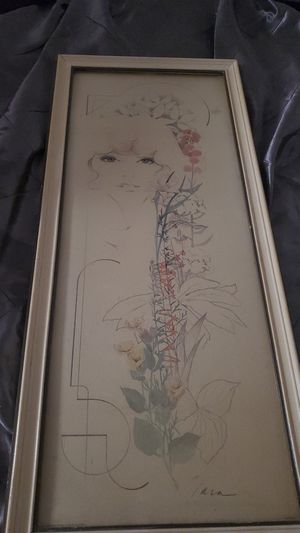 Lady print antique for Sale in Modesto, CA