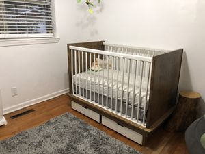 Solid wood crib and changing table for Sale in Norfolk, VA
