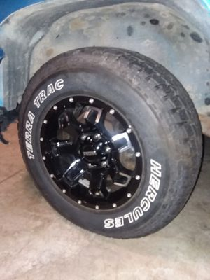 """16"""" Ultra motorsports 209 bent 7 rims an hurcules terra trac tires for Sale in Austin, MN"""
