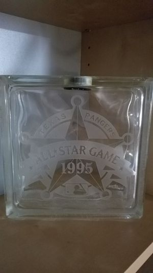 Texas Rangers collectible glass bank 1995 All Star for Sale in Plano, TX