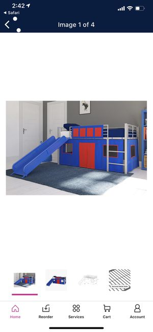 Twin bed with slide for Sale in Bonita, CA