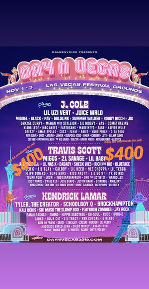 Day n Vegas wristbands 2 (3) day GA wristbands for sell for Sale in Cerritos, CA