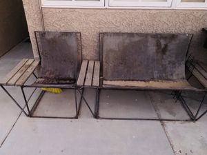 OUTDOOR FURNITURE PATIO RUSTIC METAL SOFA AND CHAIR for Sale in Las Vegas, NV