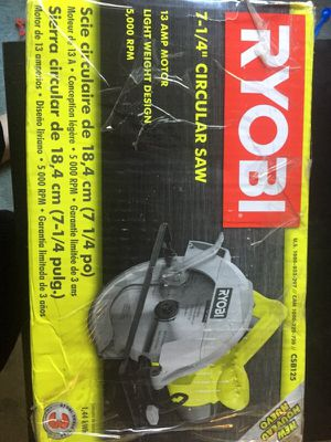 Ryoby 7 1/4 circular saw 13 amps with laser for Sale in Crofton, MD