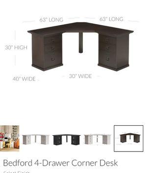 Pottery Barn Bedford 4-Drawer Corner Desk - $200 for Sale in Boulder, CO