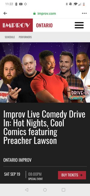 Improv ticket tonight showing for Sale in Rancho Cucamonga, CA